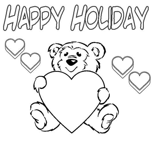 534x507 Free Holiday Coloring Pages