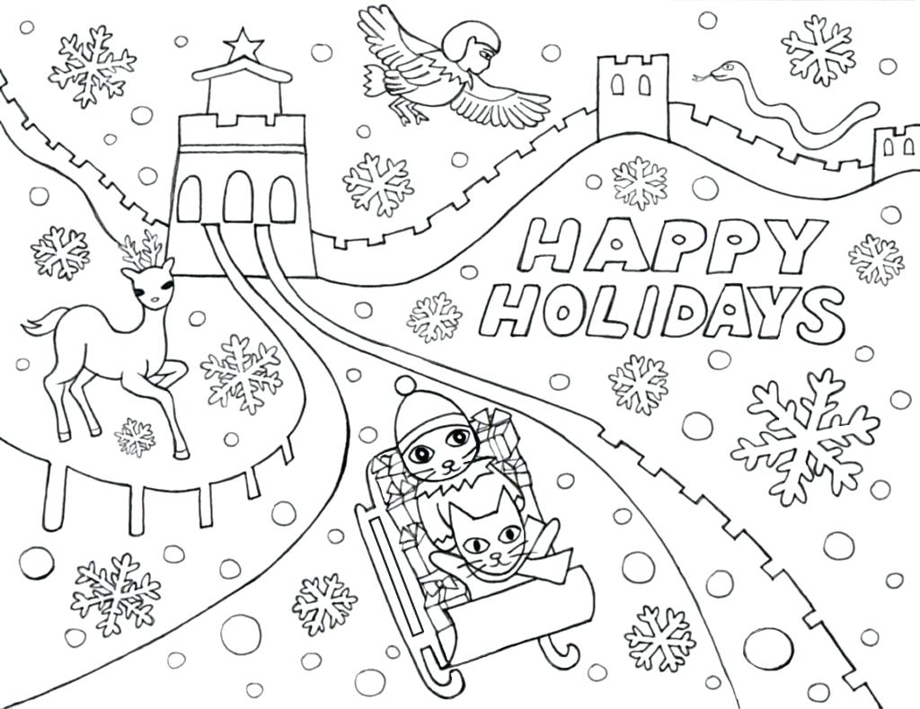 1024x789 Happy Holidays Coloring Pages Happy Summer Holidays Coloring Pages