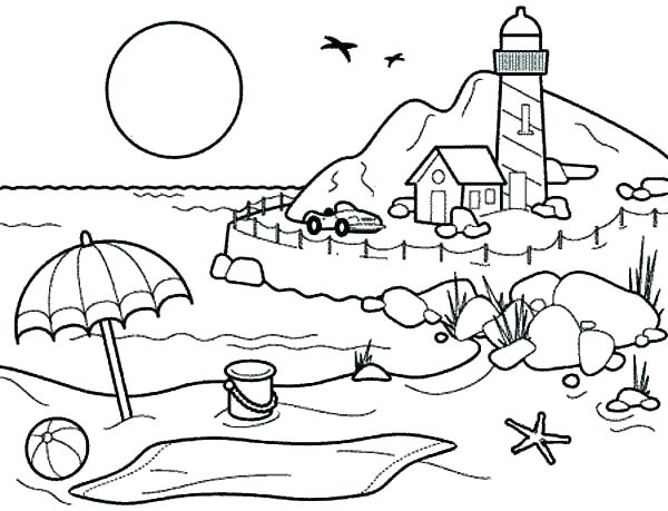 600x459 Holiday Coloring Pages Coloring Pages Summer Summertime Coloring