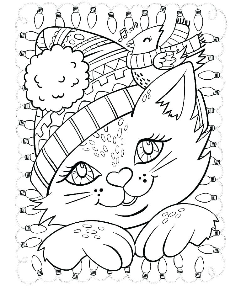 768x912 Holiday Coloring Pages For Adults Free
