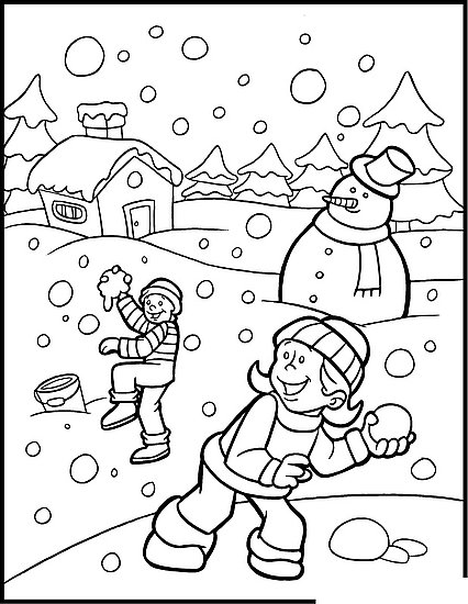 426x550 Holiday Coloring Pages Printable Winter Holiday Coloring Pages