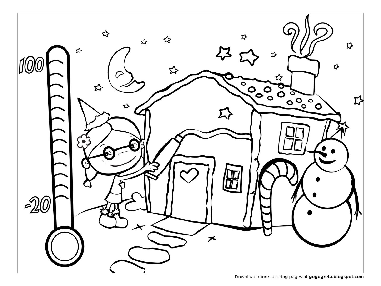 1600x1200 Holiday Coloring Pages For Kindergarten Free Printable Winter