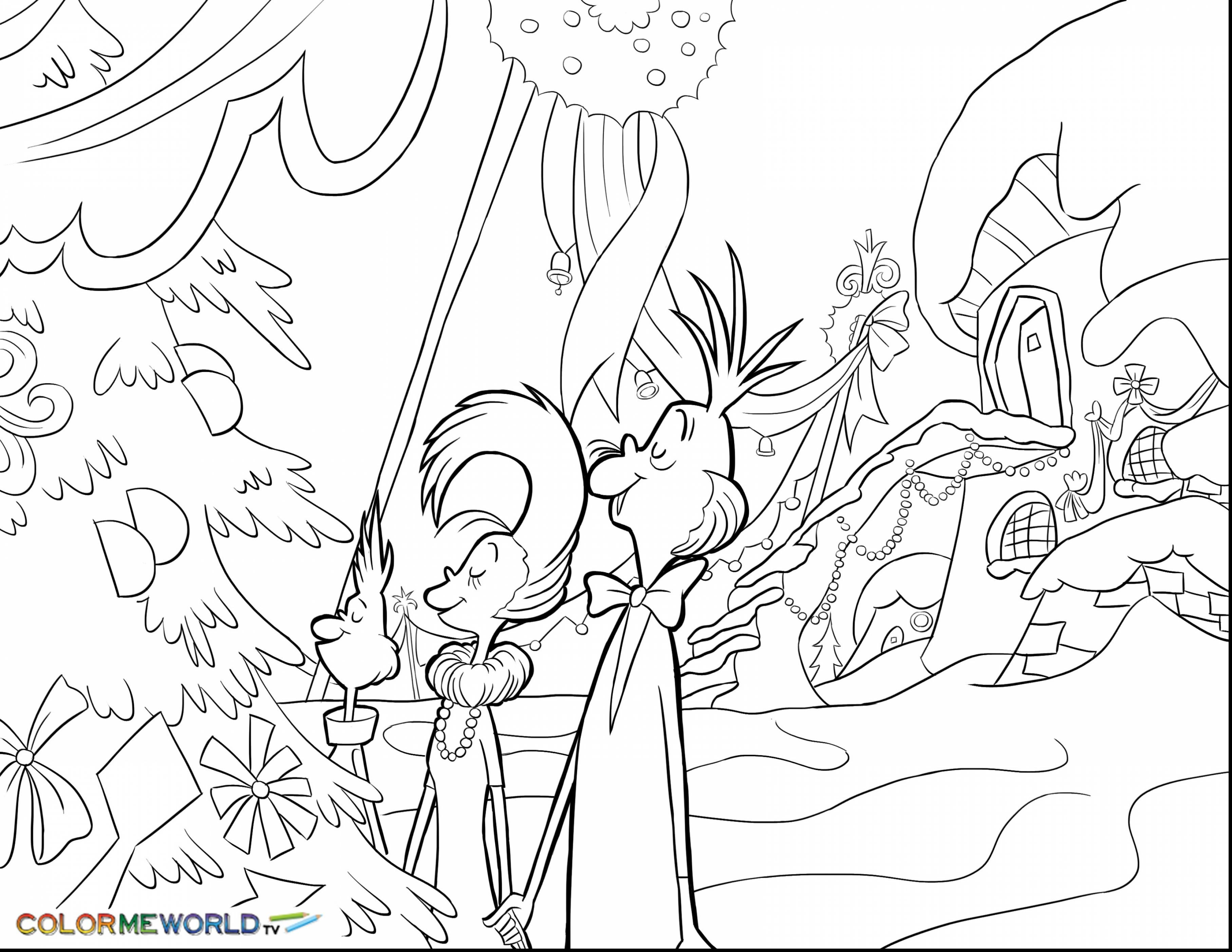 3630x2805 Holiday Coloring Pages Online Inspiration Christmas Grinch Had