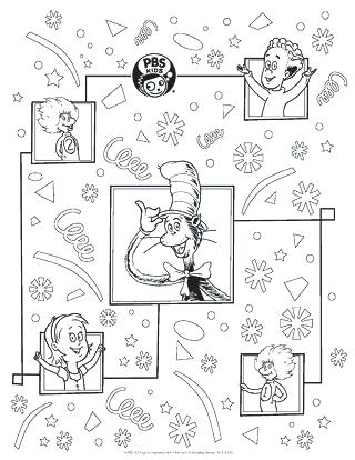 320x414 Kids Holiday Coloring Pages Or Cat In The Hat Wrapping Paper