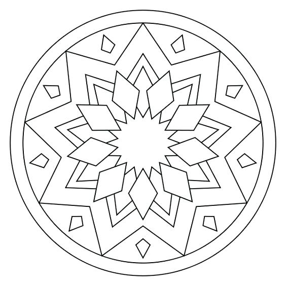 564x564 Online Color Pages Holiday Coloring Online Color Mandala Online