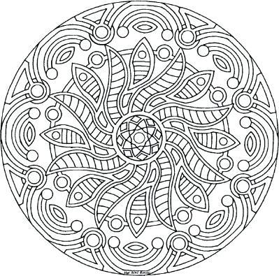 399x395 Color Mandalas Online Free Holiday Coloring Complex Mandala