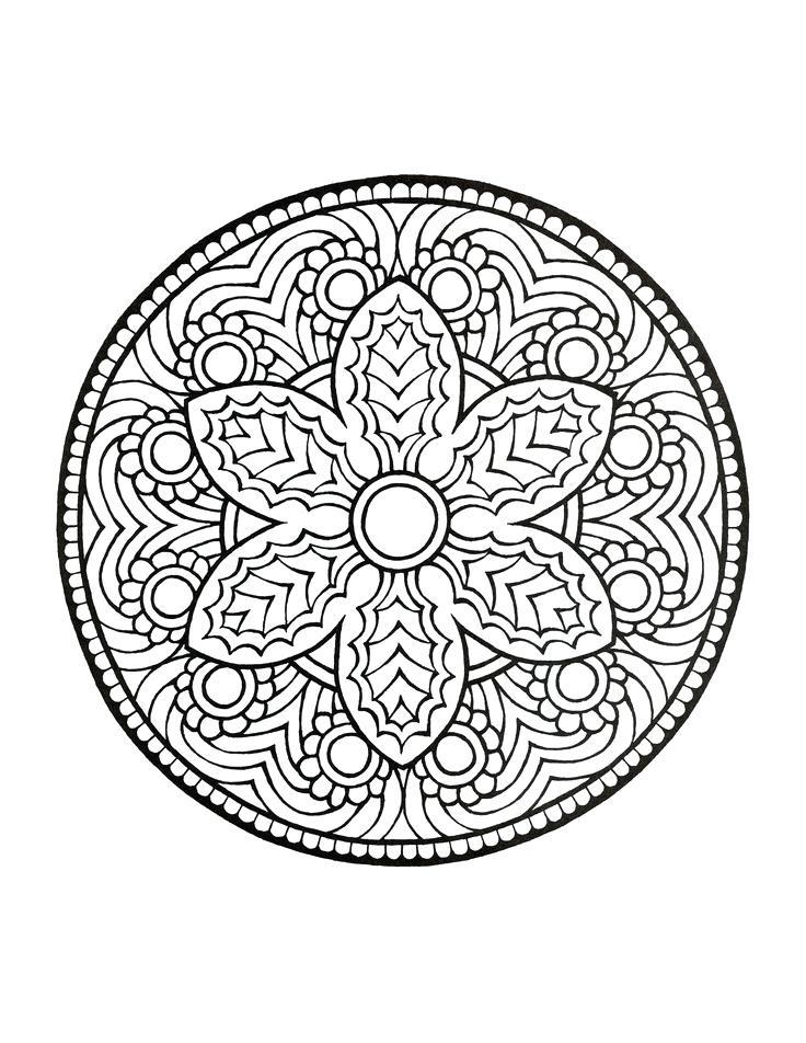 736x952 Online Mandala Coloring Pages Mandala Coloring Book Holiday