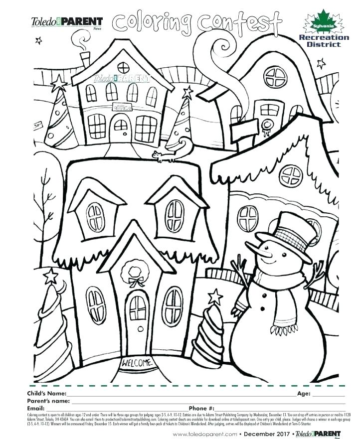 726x881 Holiday Coloring Pages Online