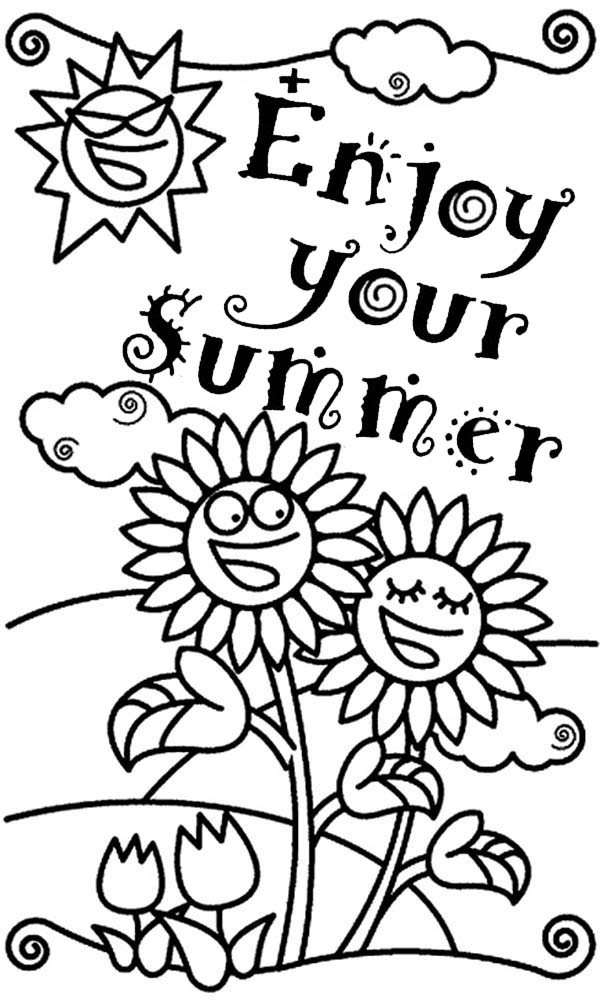 600x1000 Enjoy Your Summertime Holiday Coloring Page