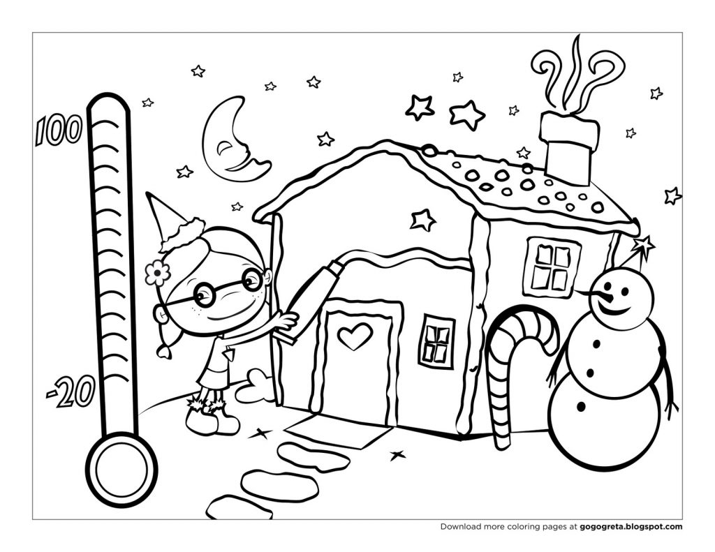 1024x791 Holiday Coloring Pages For Kindergarten Free Printable Winter