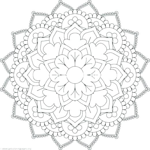 520x520 Flower Mandala Coloring Pages Online Mandala Coloring Pages