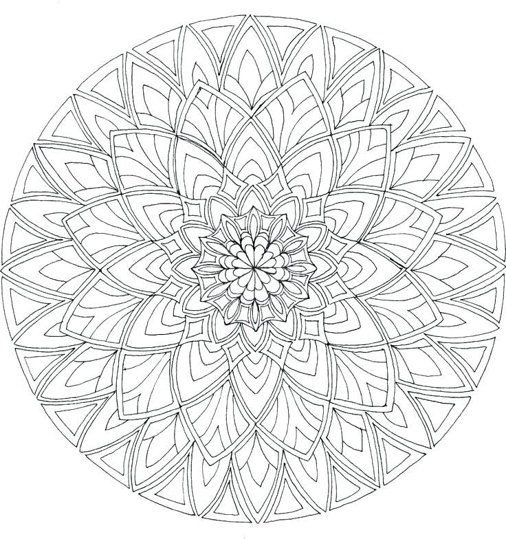 736x784 Free Printable Mandalas Coloring Pages Online Mandala Coloring