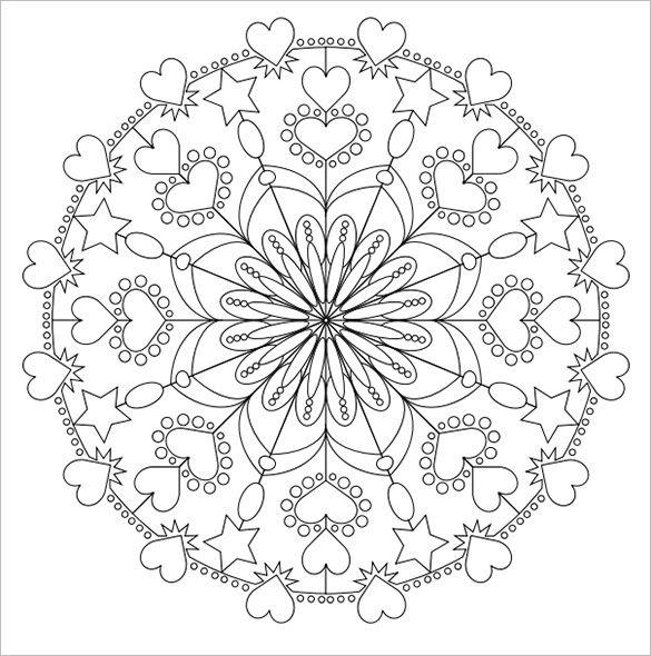 585x590 Holiday Mandala Coloring Page Blank Mandala Coloring Pages