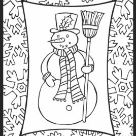 268x268 Holiday Coloring Pages For Adults All About Coloring Pages