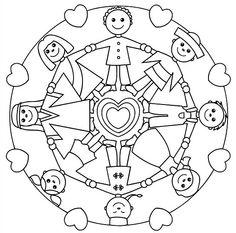 236x233 Childrens Mandalas Printable Holiday Mandala Coloring Pages