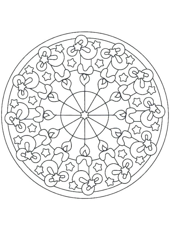 600x800 Christmas Mandala Coloring Pages Free Mandala Coloring Pages Lots
