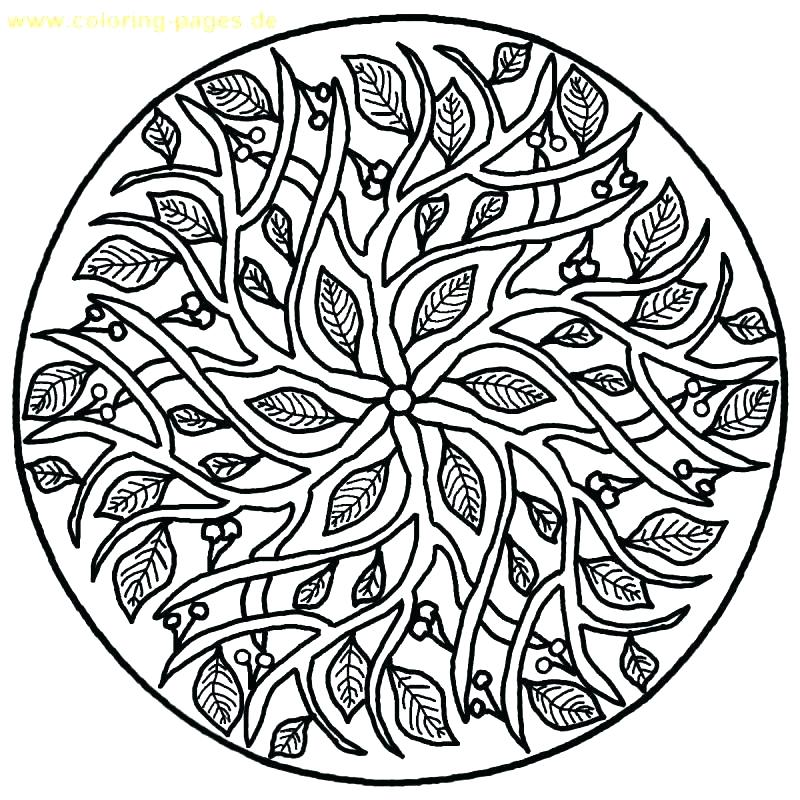 800x800 Christmas Mandala Coloring Pages Mandalas To Color Complex Mandala