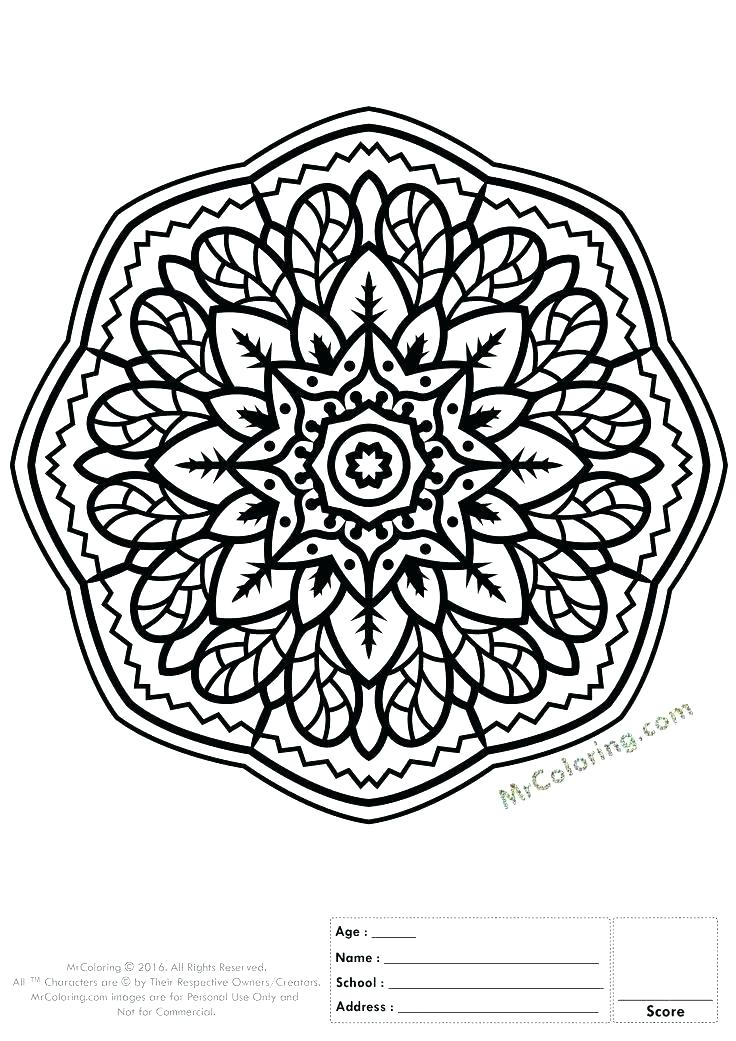 736x1041 Color Pages Online Mandala Coloring Pages Online Online Mandala