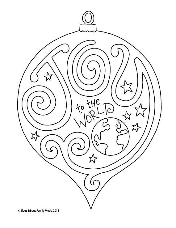 570x738 Joy To The World Christmas Coloring Page Kids Holiday