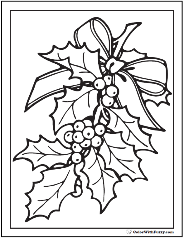Holly Berry Coloring Pages