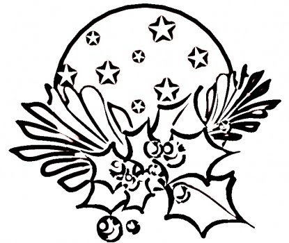 415x350 Christmas Holly Coloring Pages, Holly And Berry Xmas Learn
