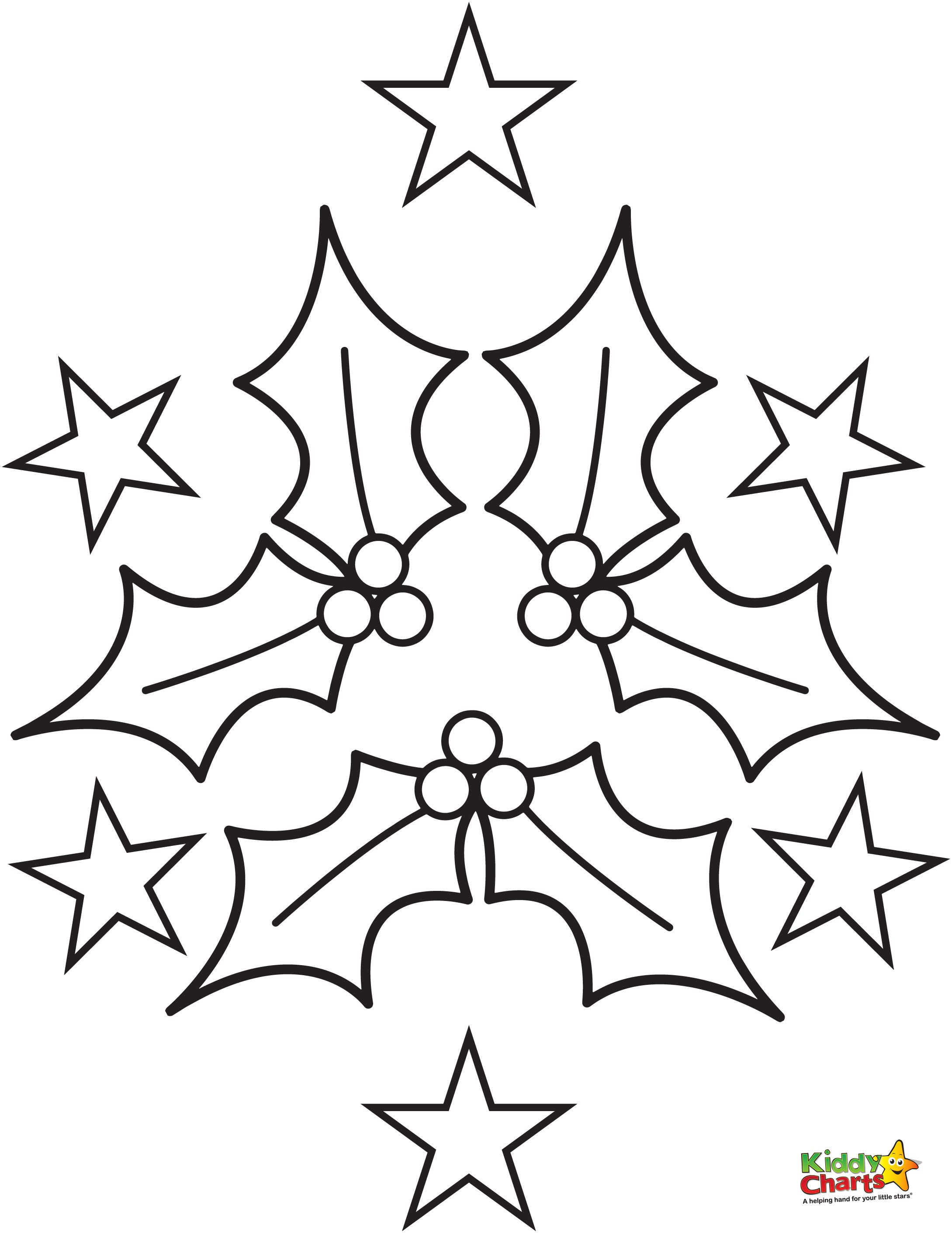 2179x2822 Holly Coloring Pages Craft, Free And Template