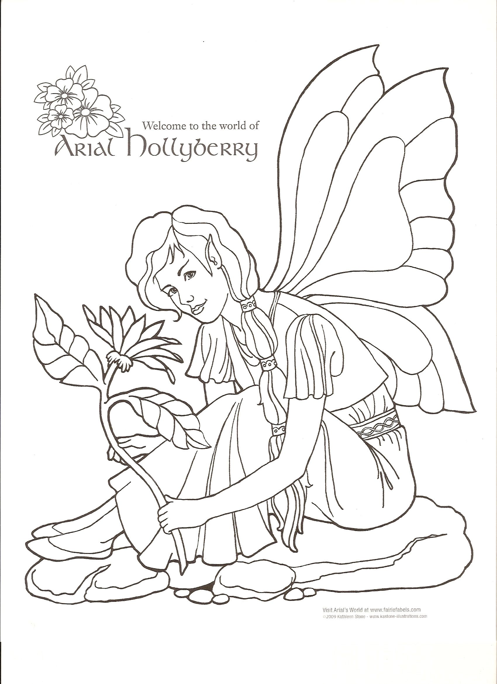 1700x2338 Arial Hollyberry Coloring Page Color Pages