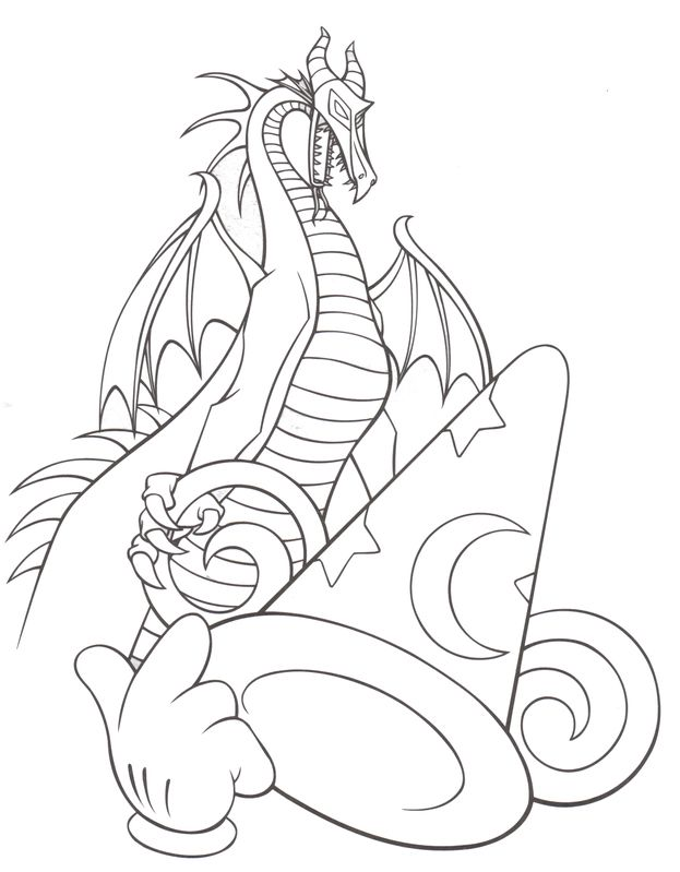 623x799 Hollywood Studios The Sorcerer's Hat Disney Coloring Pages