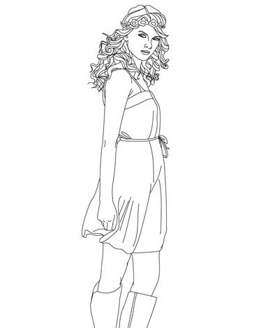 364x470 Selena Gomez And Taylor Swift Hollywood Coloring Pages