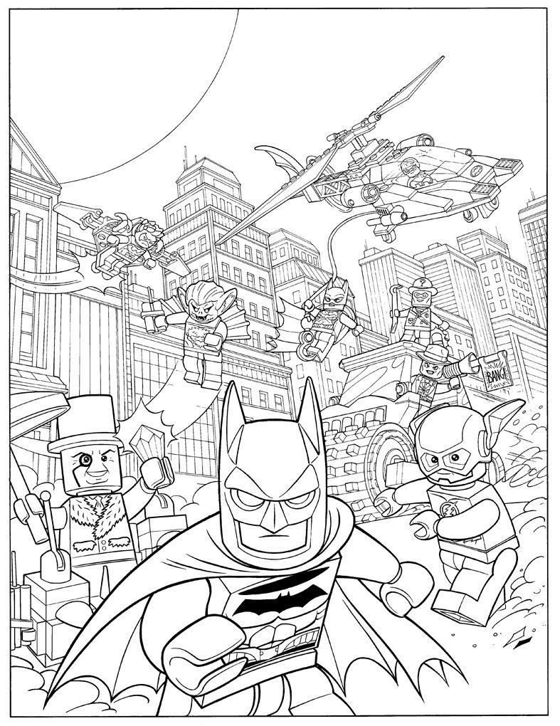 787x1020 Lego Catwoman Coloring Pages Batman