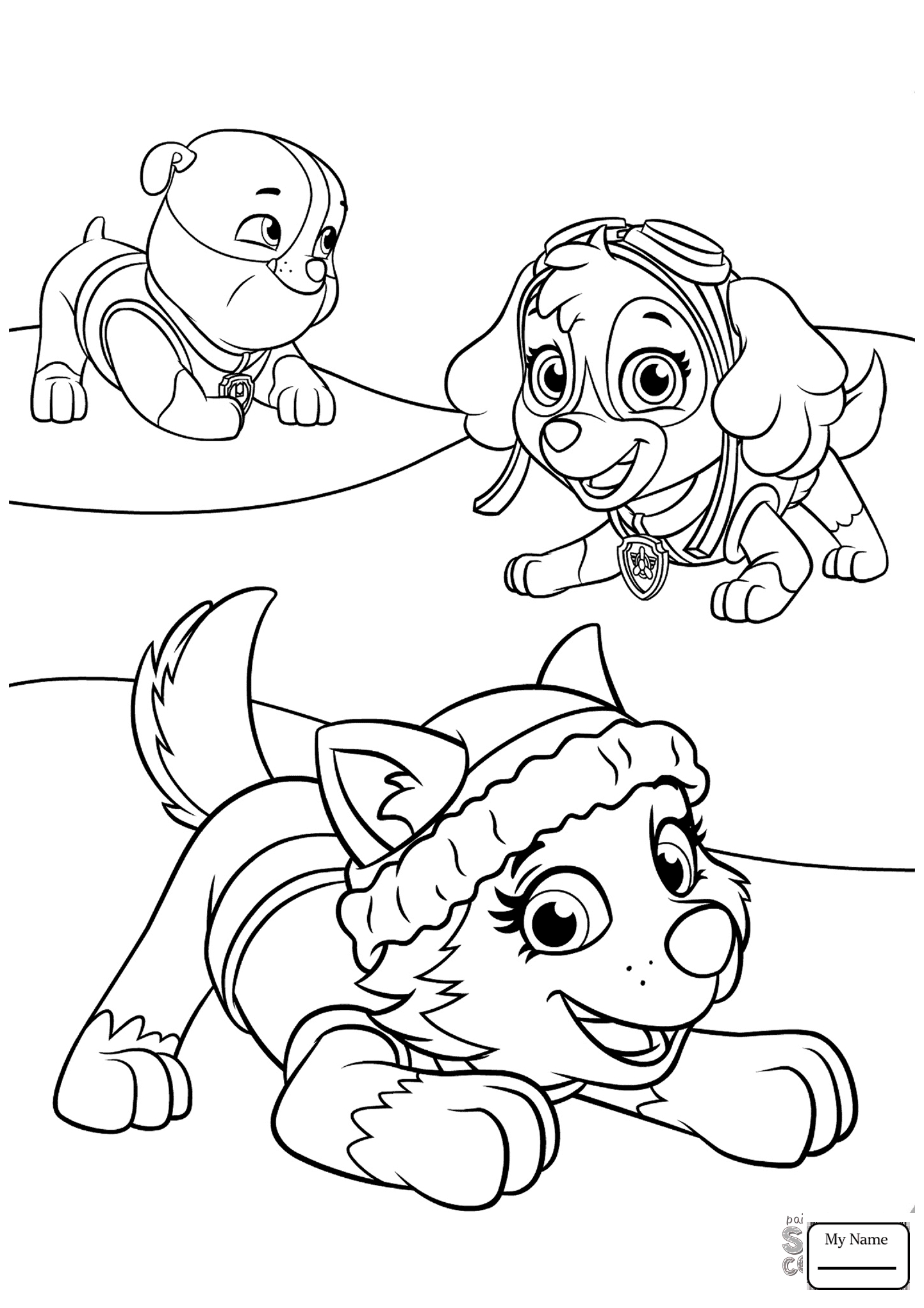 1442x2040 Paw Patrol Coloring Pages Rubble To Print Coloring For Kids
