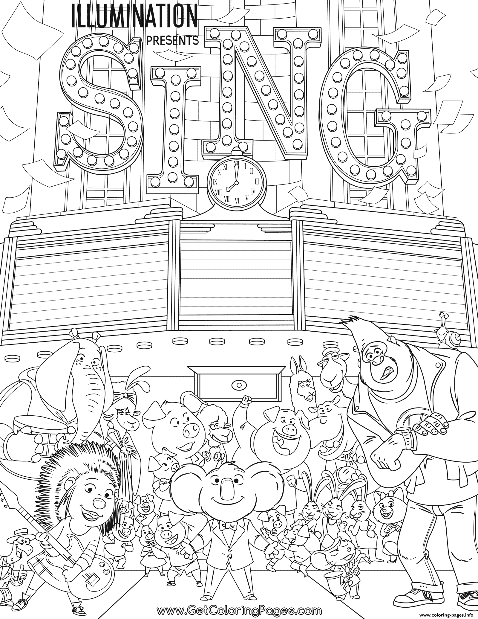 1600x2070 Print Movie Sing Coloring Pages And The Teachers