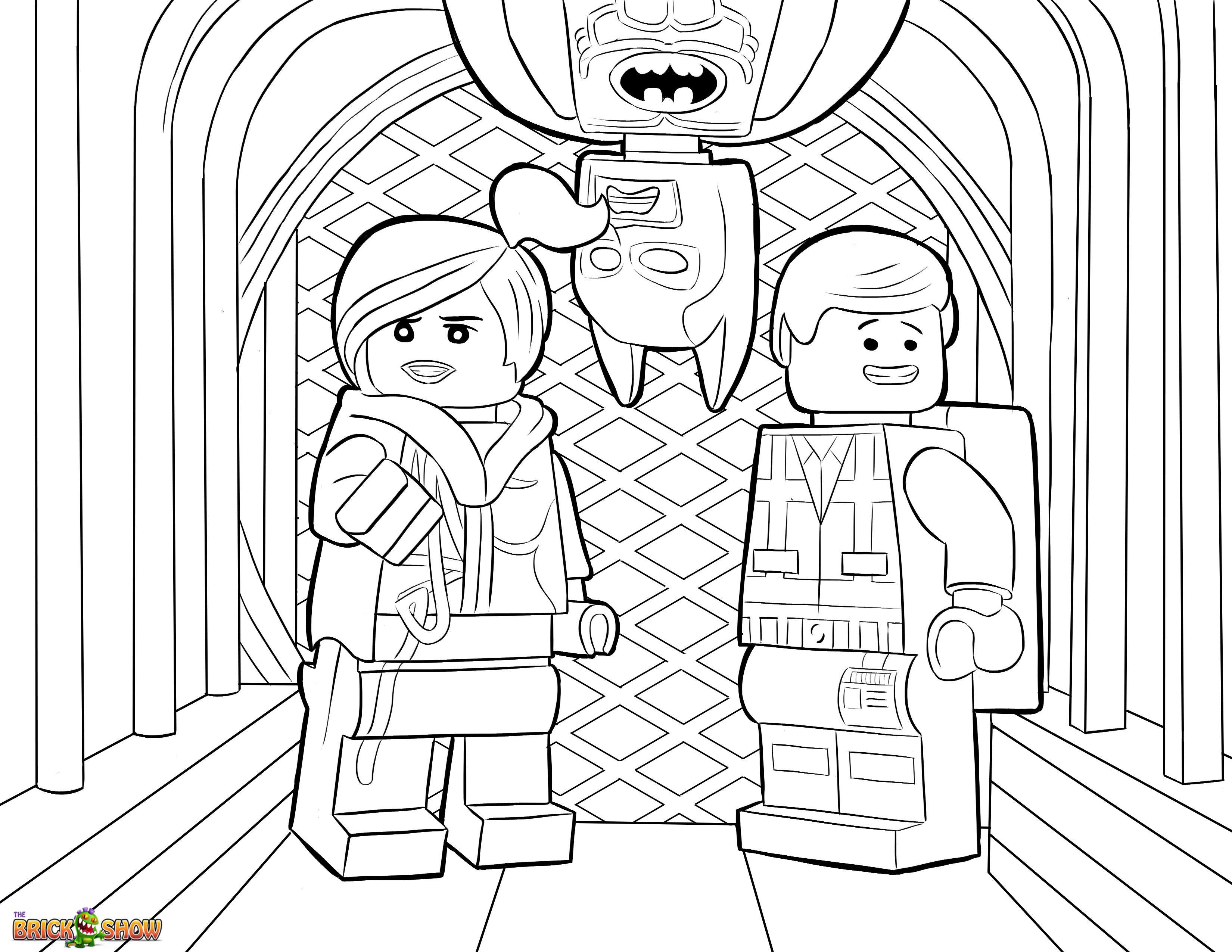 3300x2550 The Lego Movie Coloring Page, Lego Wyldstyle, Emmet Batman