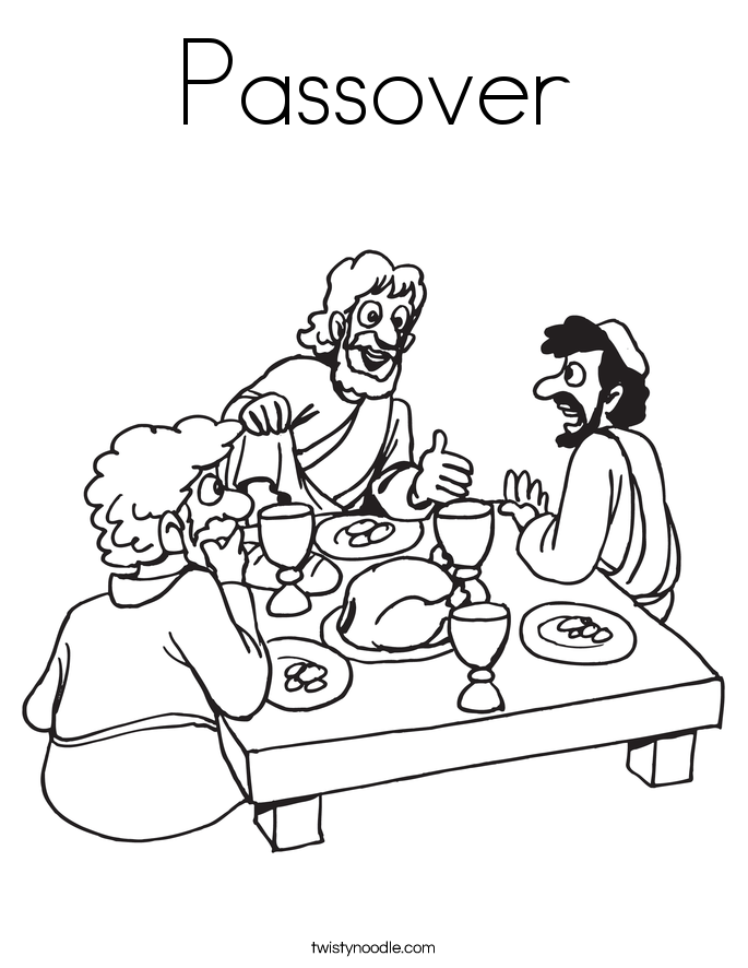685x886 First Passover Coloring Pages Yahshua And The Passover Week Why