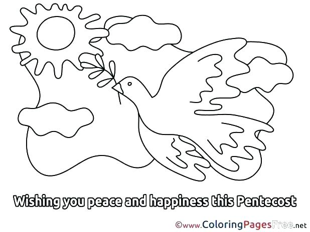618x464 Holy Spirit Coloring Page Holy Spirit Coloring Page Birthday