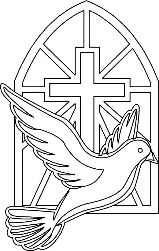 Holy Cross Coloring Pages