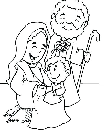 409x514 Holy Family Coloring Pages Family Coloring Pages Holy Holy Family