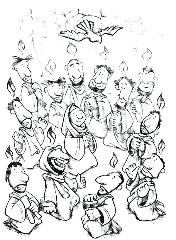 600x818 Holy Spirit Coloring Page Acts The Holy Spirit Came Holy Spirit