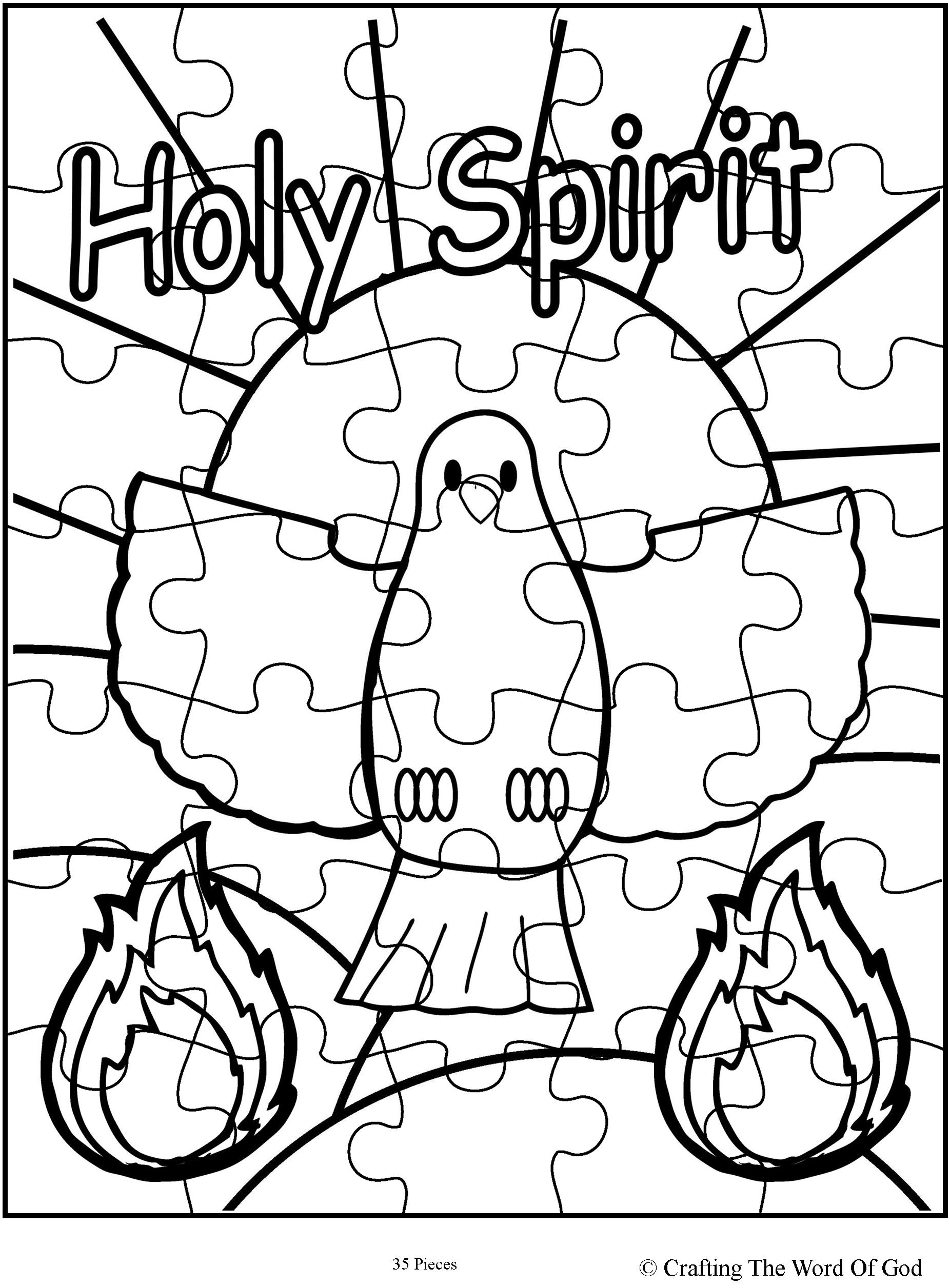 1852x2512 Holy Spirit Puzzle Activity Sheet Crafting The Word Of God