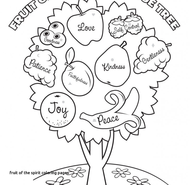 791x768 Fruits Of The Holy Spirit Coloring Pages Best Of Fruit The Spirit
