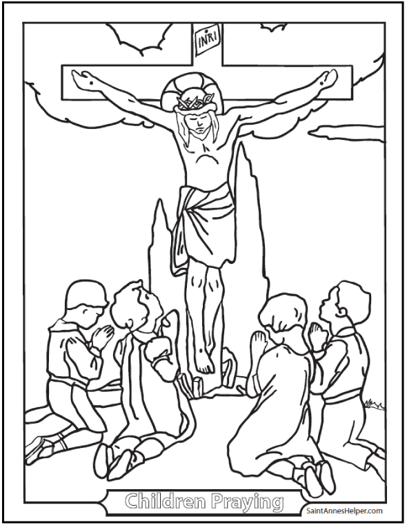 590x762 Good Friday Coloring Pages For God So Loved The World