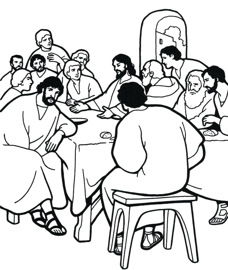 769x910 Holy Week Coloring Sheets The Last Supper Coloring Page Holy Week