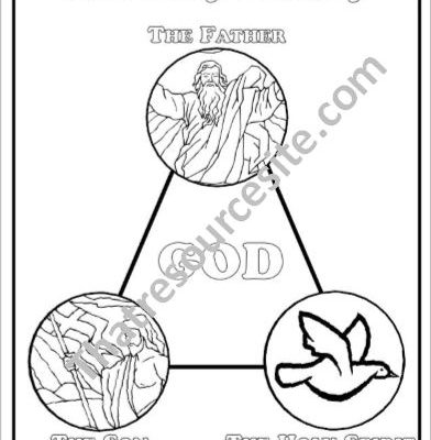392x400 Holy Trinity Coloring Sheet