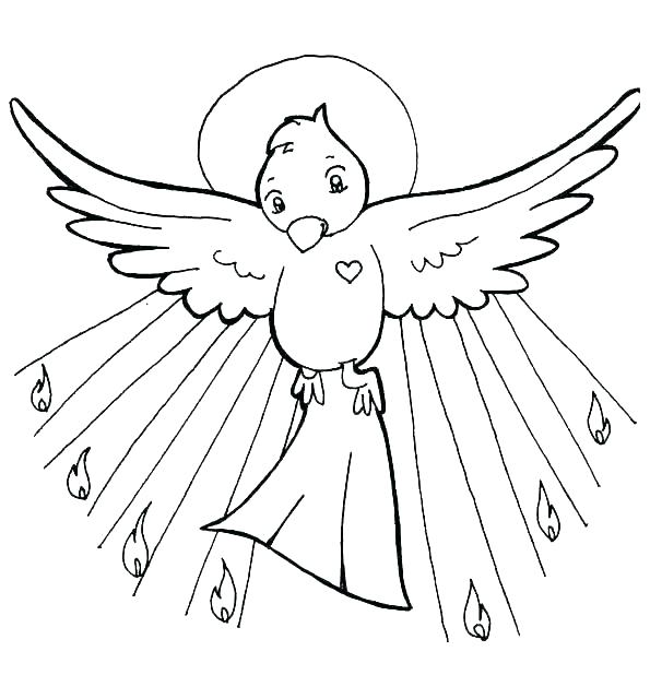 595x618 Holy Spirit Coloring Pages Holy Spirit Coloring Page Holy Spirit