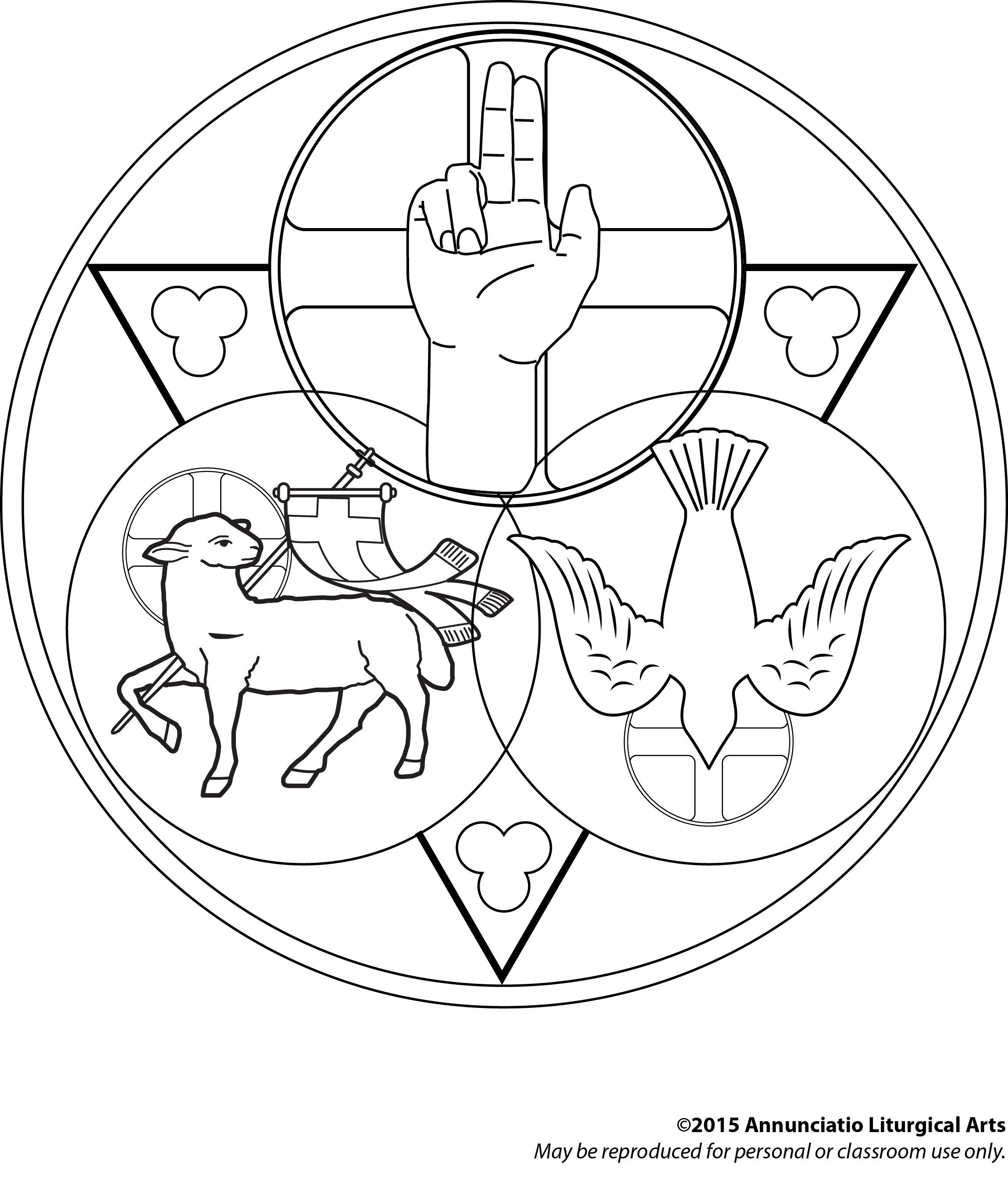 2299x2713 Holy Trinity Coloring Page Find More Art