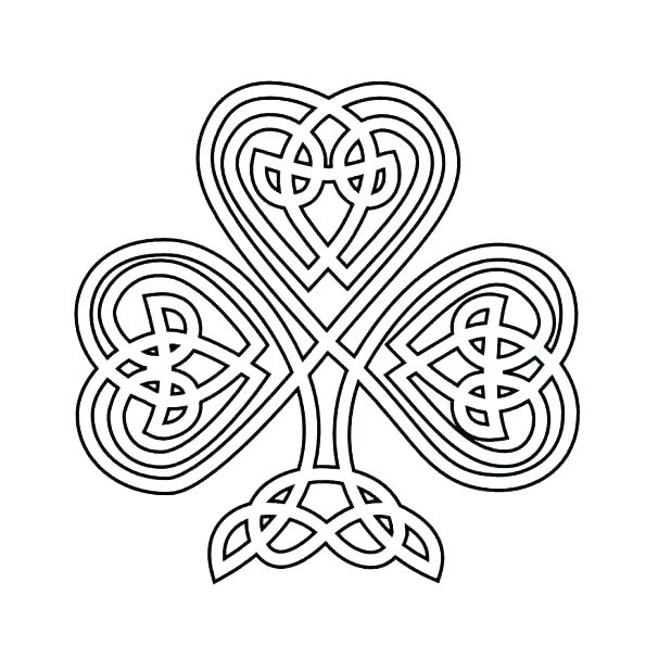 618x618 Pictures Of Shamrocks To Color Holy Trinity Coloring Pages