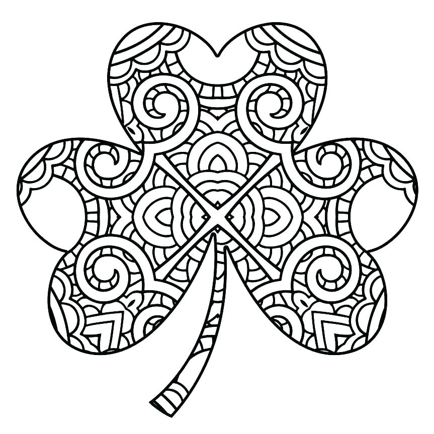 863x863 Shamrock Coloring Page Holy Trinity Coloring Pages Printable