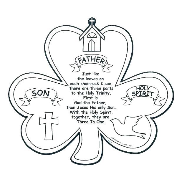 618x618 Shamrock Trinity Coloring Page Phos S Shamrock Holy Trinity