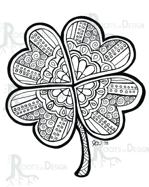 570x713 Shamrocks Coloring Pages Holy Trinity Coloring Pages Shamrocks