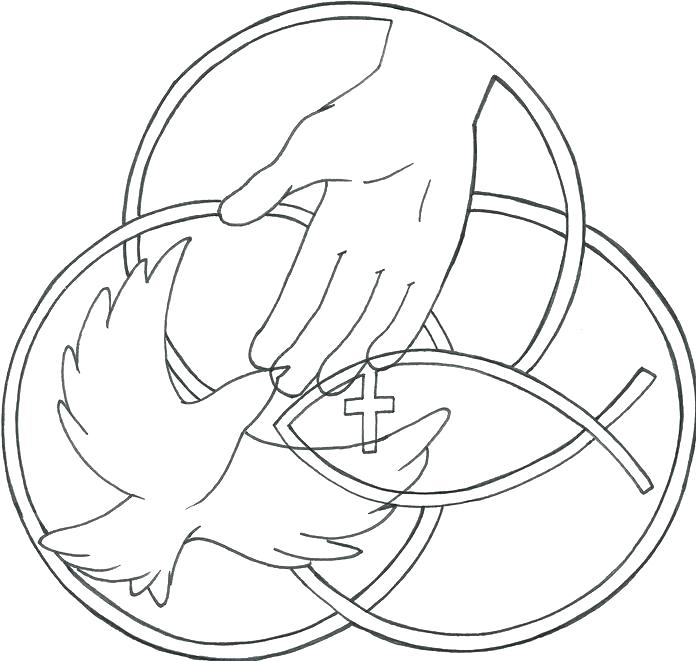 696x661 Holy Trinity Coloring Page Holy Trinity Coloring Pages Holy